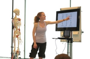 Dance Scientist Edel Quin teaching
